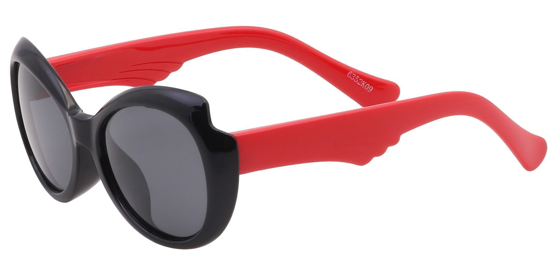 Robin Oval Single Vision Sunglasses - Black Frame With Gray Lenses