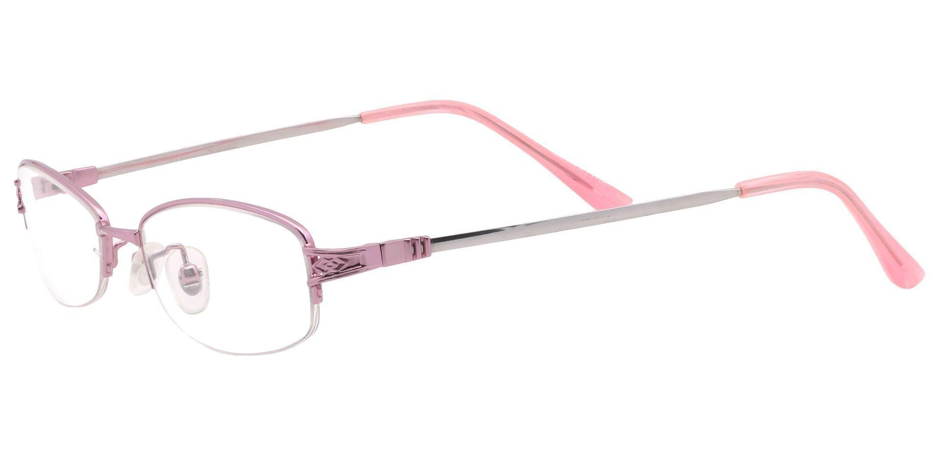 Delta Oval Single Vision Glasses - Pink