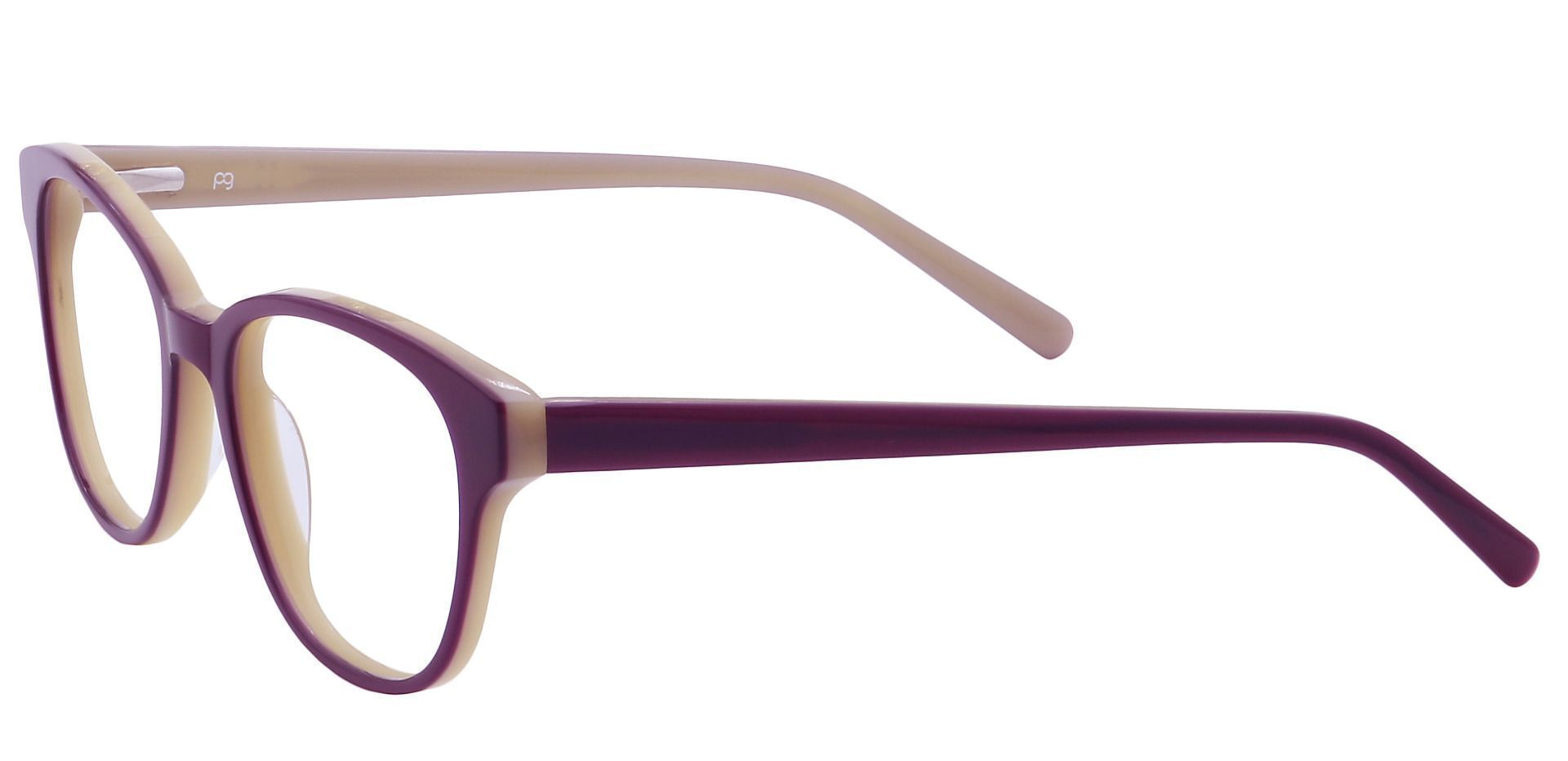 Elan Classic Square Eyeglasses Frame - Purple