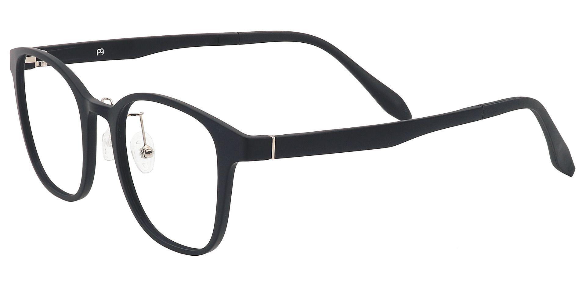 Normandy Oval Prescription Glasses - Black