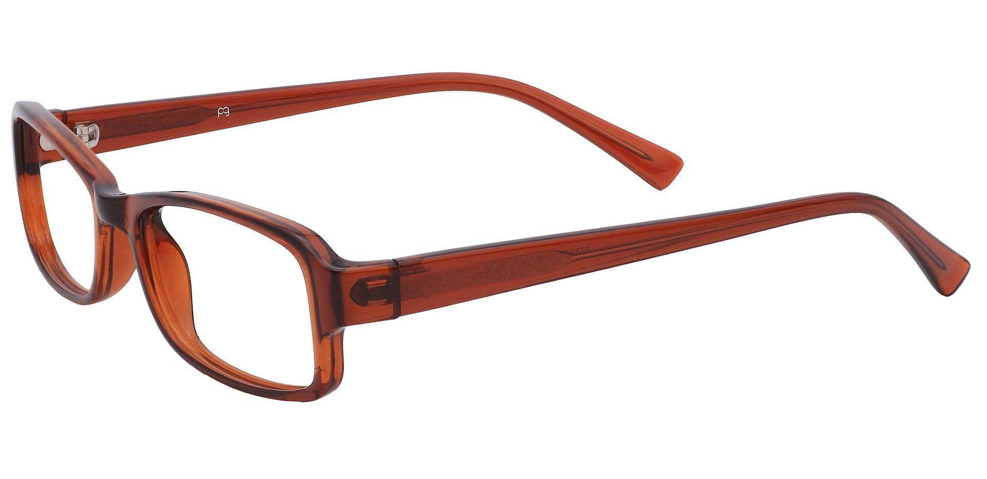 Rowan Rectangle Eyeglasses Frame - Root Beer Crystal