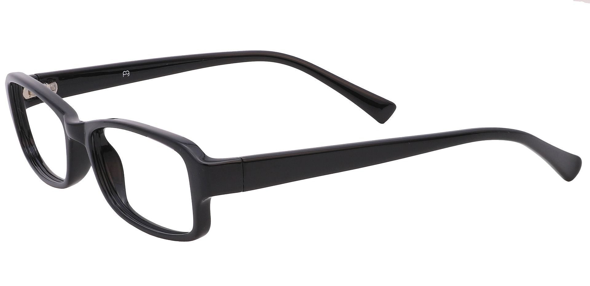 Rowan Rectangle Prescription Glasses - Glossy Black