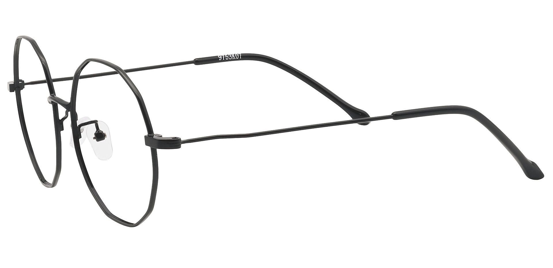 Nyll Geometric Non-Rx Glasses - Black