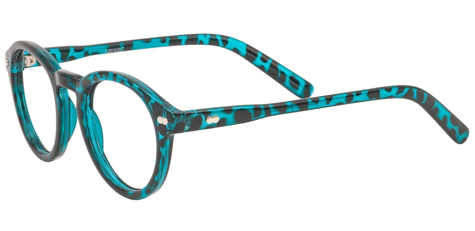 Vee Round Blue Light Blocking Glasses - Blue