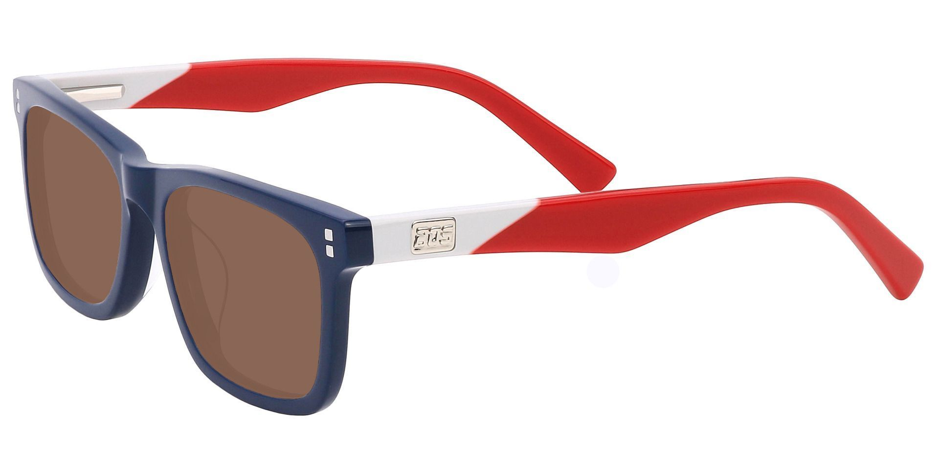 Harbor Rectangle Reading Sunglasses - Blue Frame With Brown Lenses