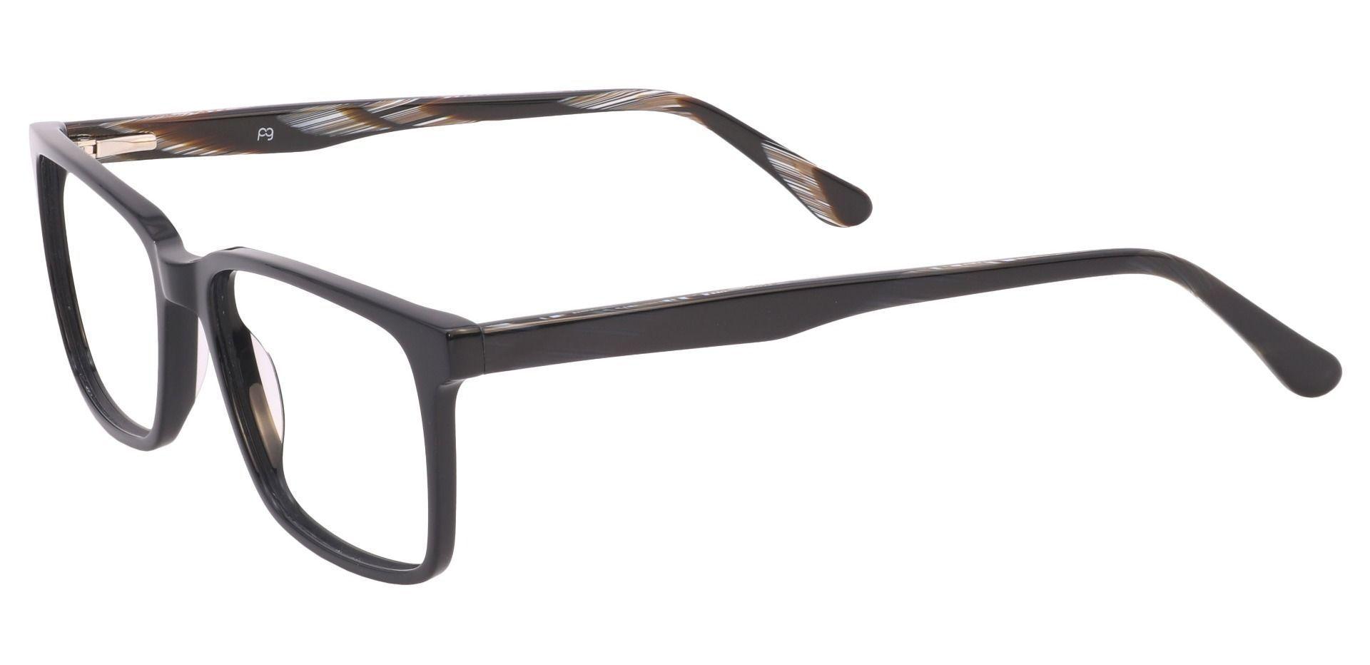 Venice Rectangle Eyeglasses Frame - Black
