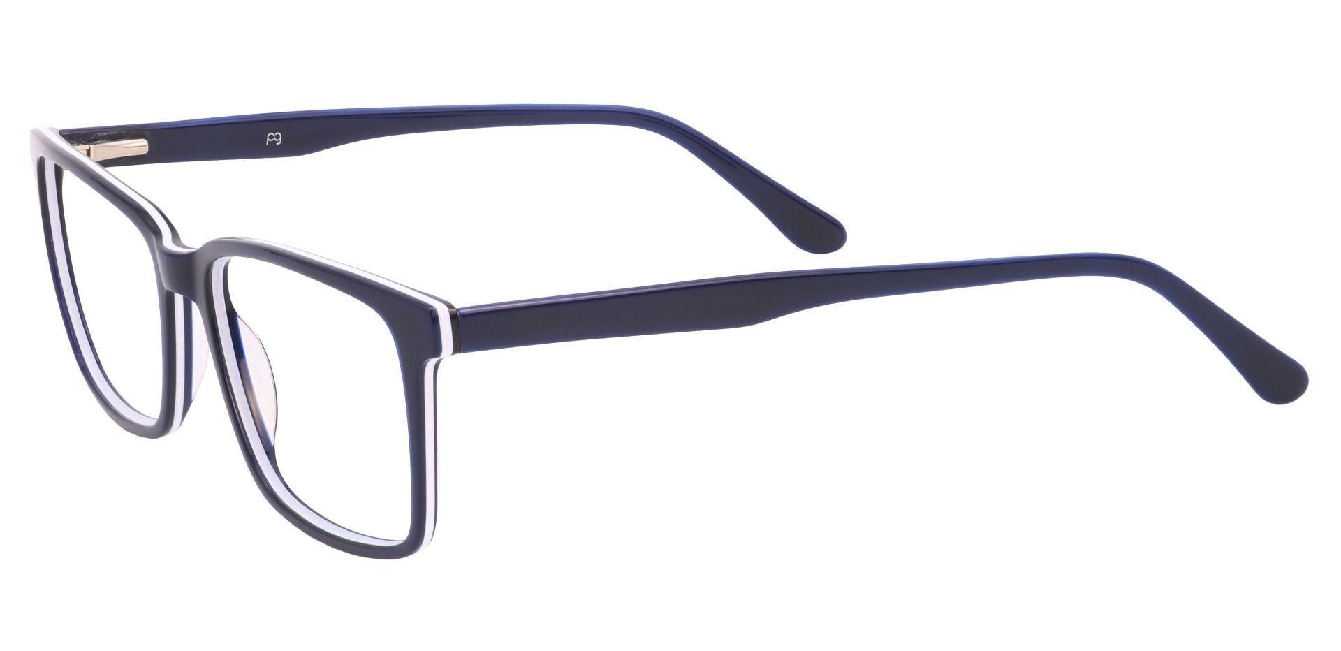 Venice Rectangle Lined Bifocal Glasses - Navy-white