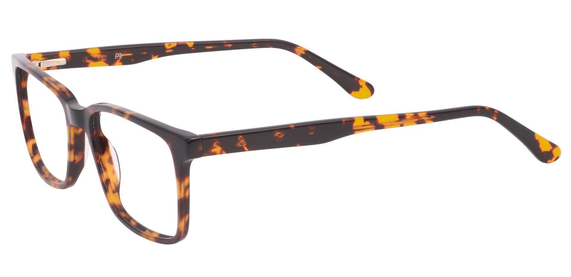 Venice Rectangle Blue Light Blocking Glasses - Tortoise