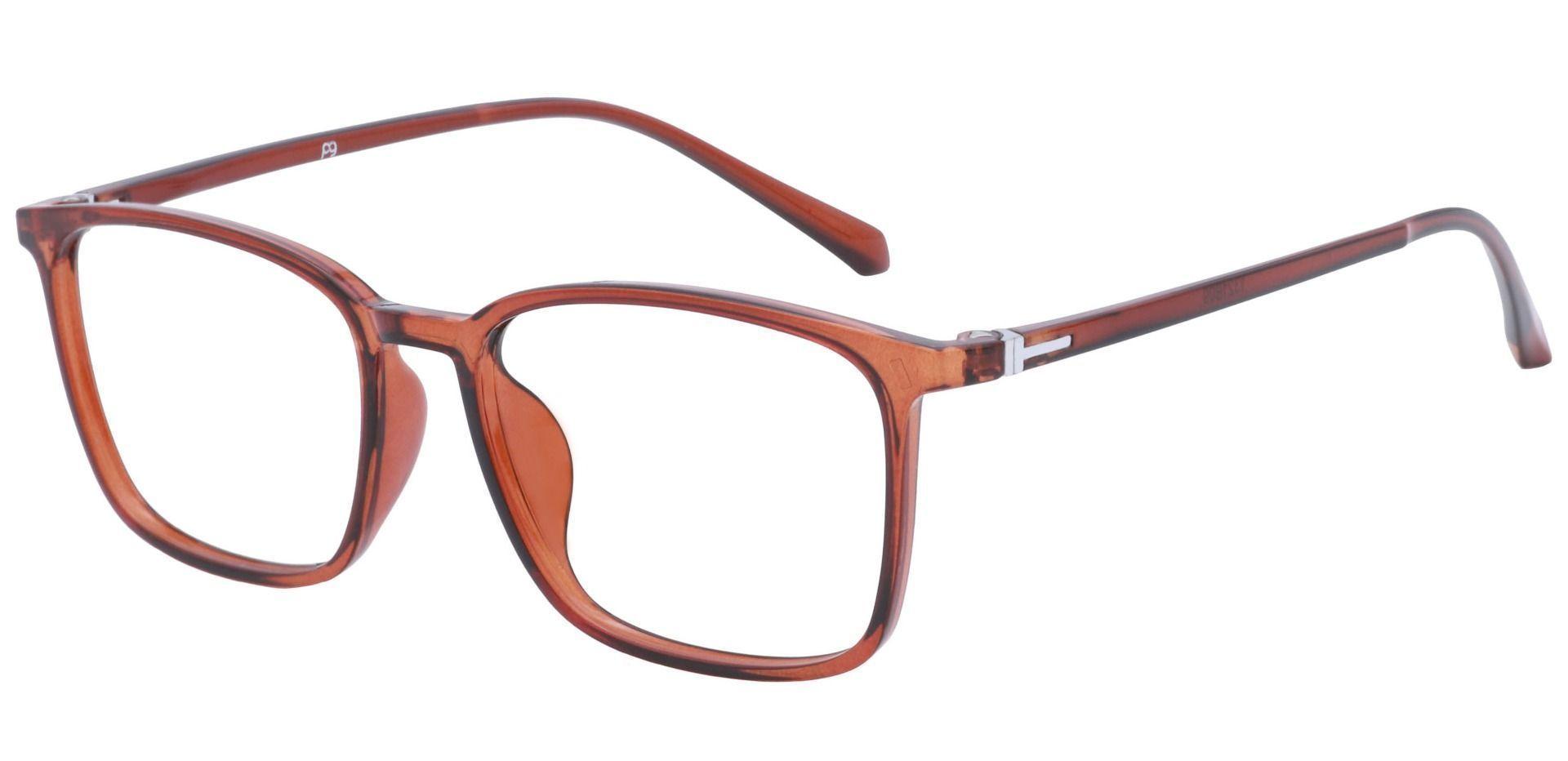 Hayworth Rectangle Blue Light Blocking Glasses - Brown