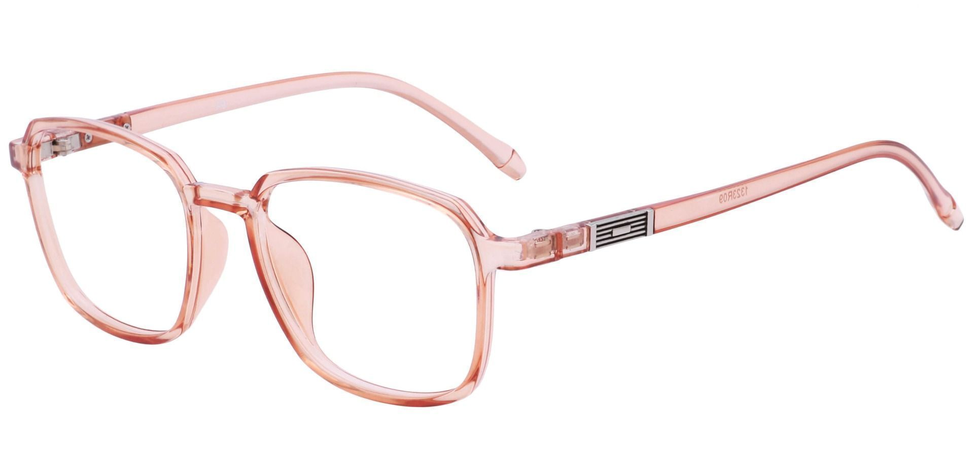 Stella Square Eyeglasses Frame - The Frame Is Red And Clear