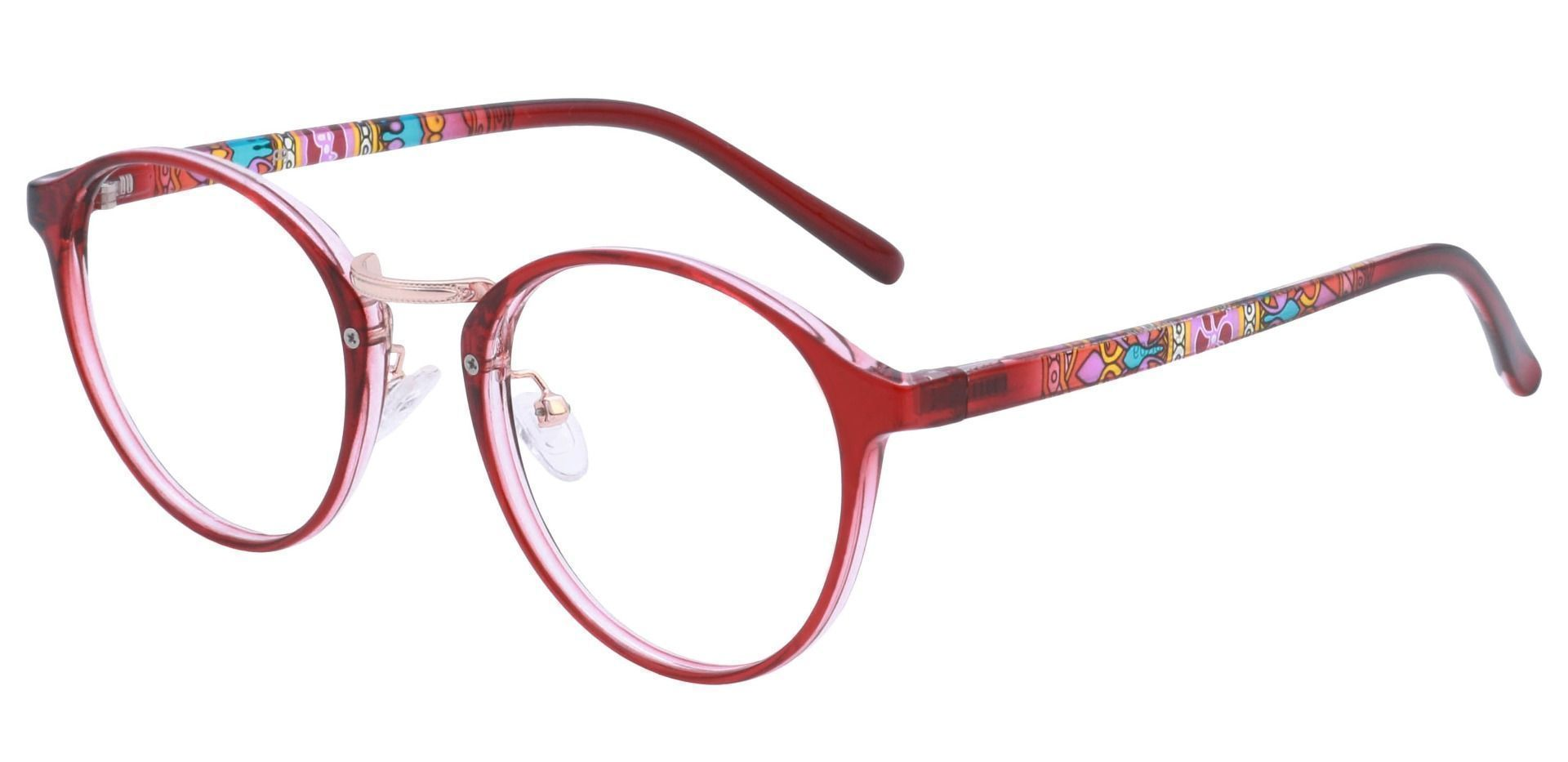 Bloom Oval Prescription Glasses - Red
