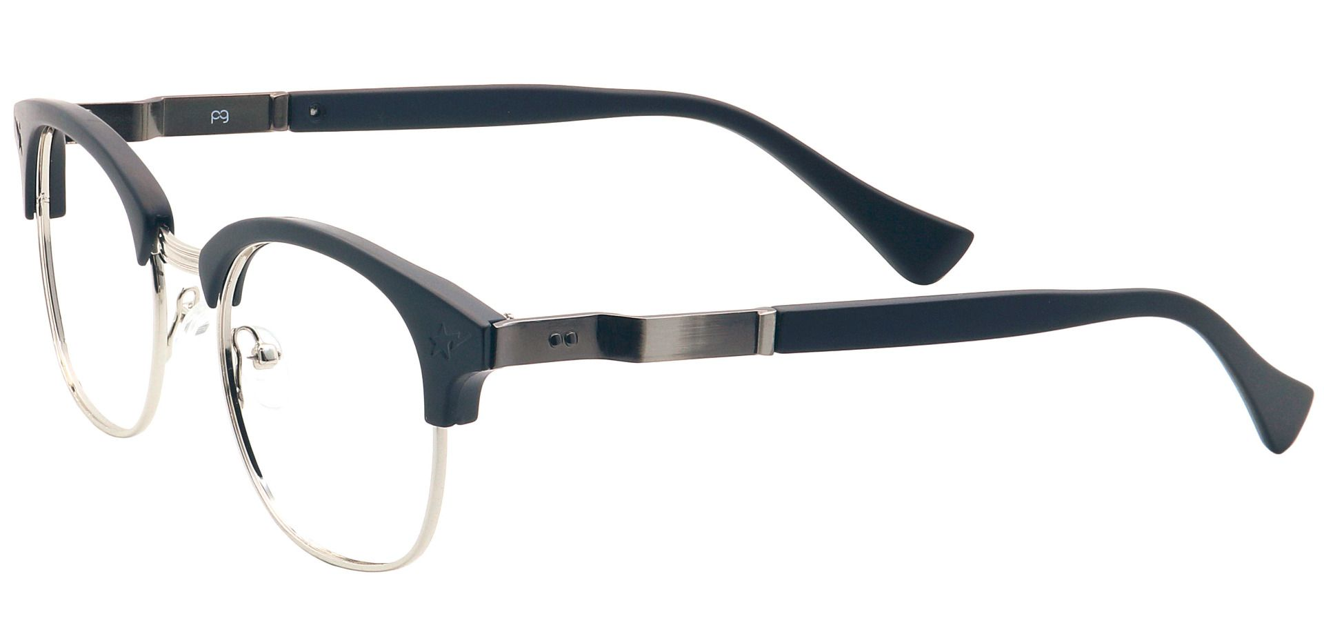Neptune Browline Non-Rx Glasses - Black