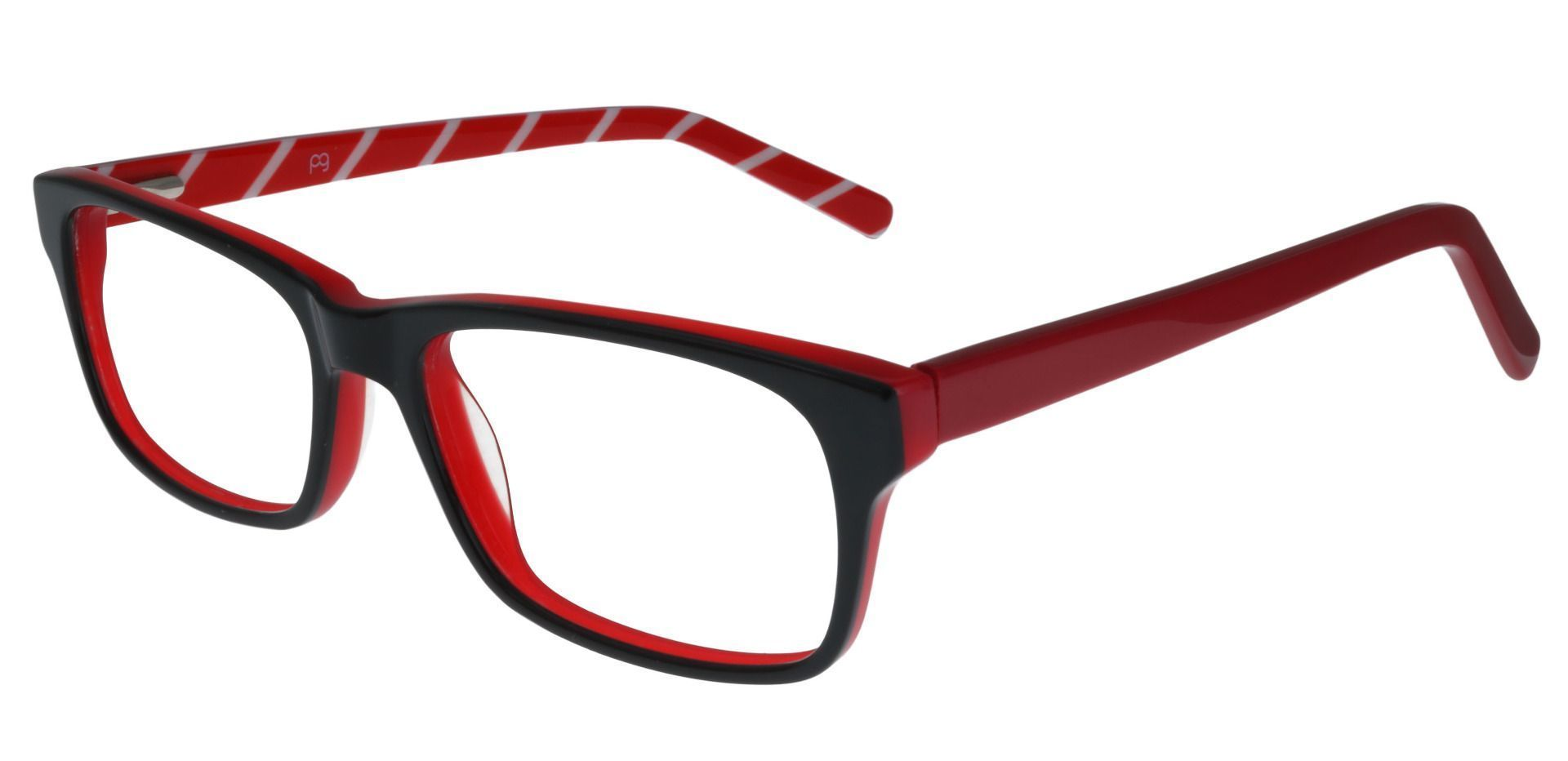 Petra Rectangle Prescription Glasses - Red