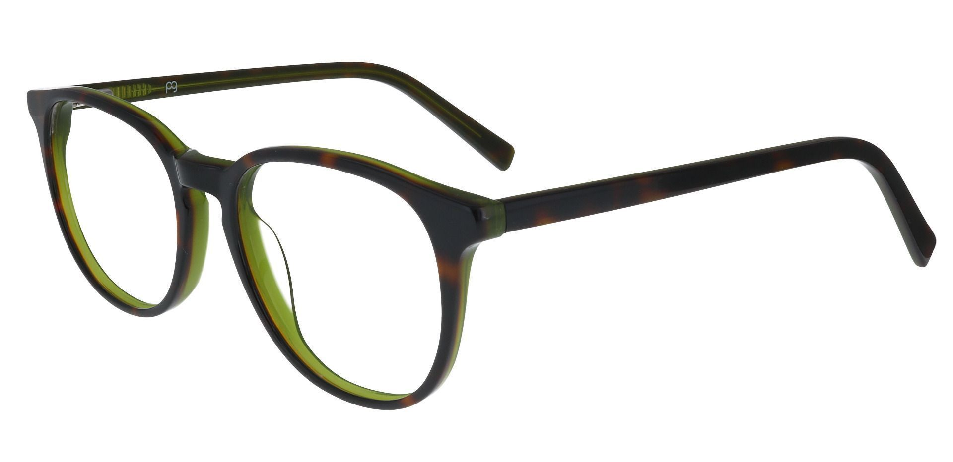 Dunbar Oval Prescription Glasses - Green