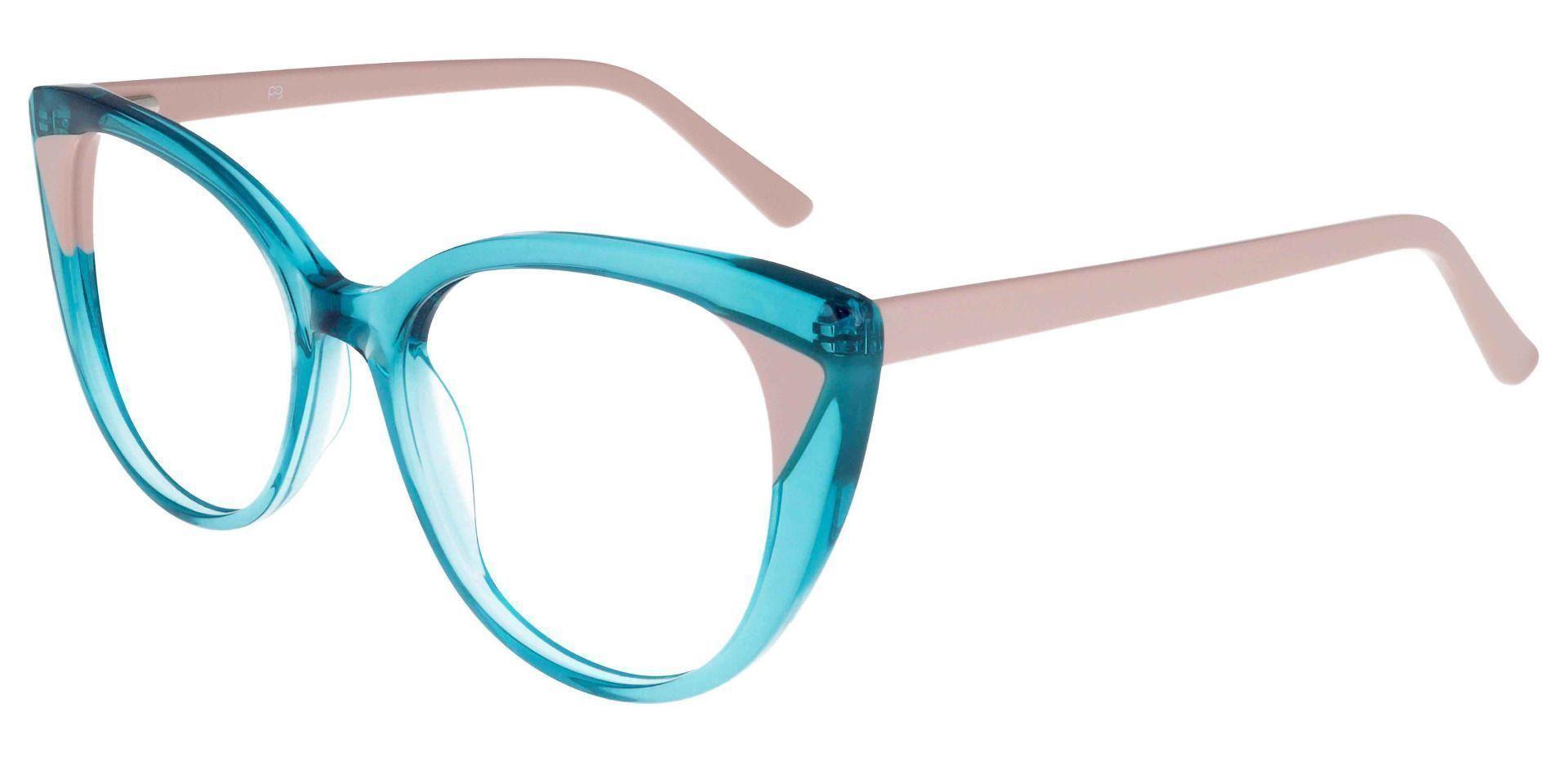 Juniper Oversized Cat Eye Prescription Glasses - Blue