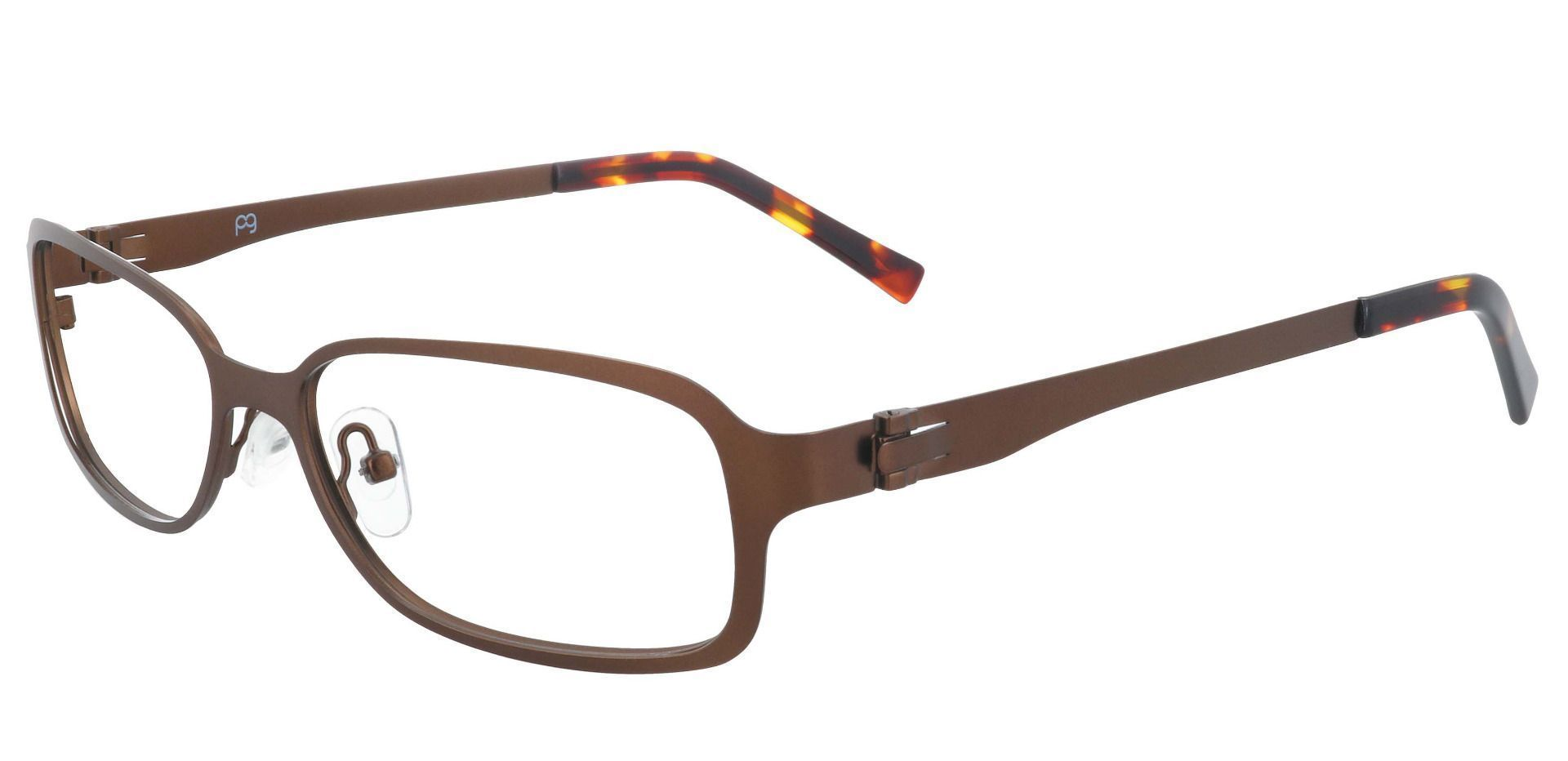 Constable Rectangle Single Vision Glasses - Brown