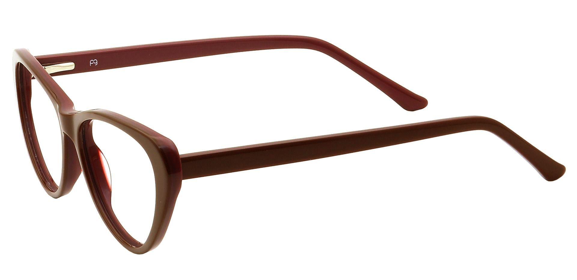 Lola Cat-Eye Reading Glasses - Brown