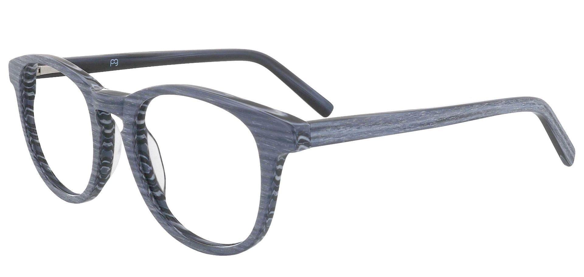 Lathe Oval Prescription Glasses - Gray