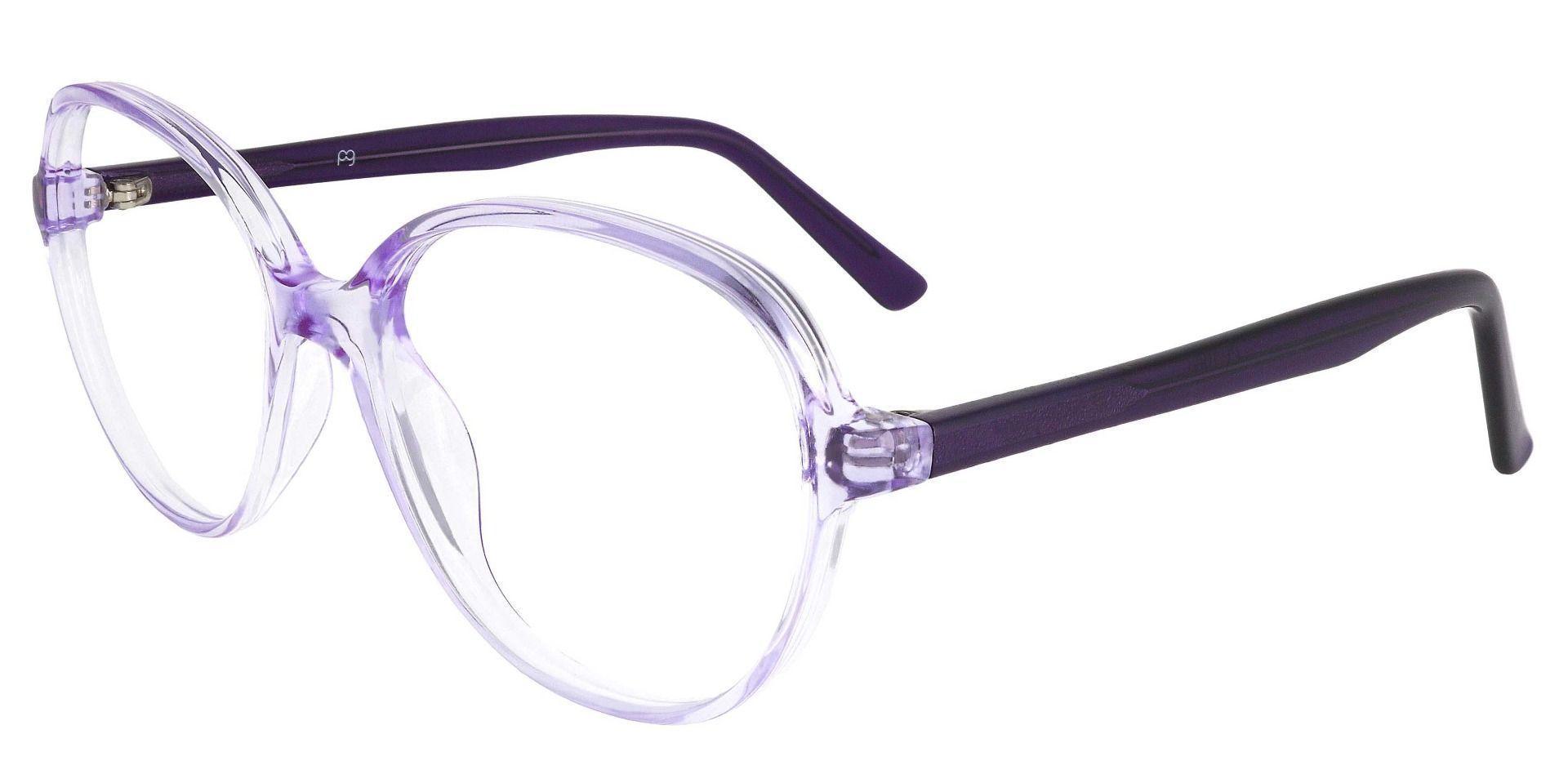 Luella Oval Prescription Glasses - Purple