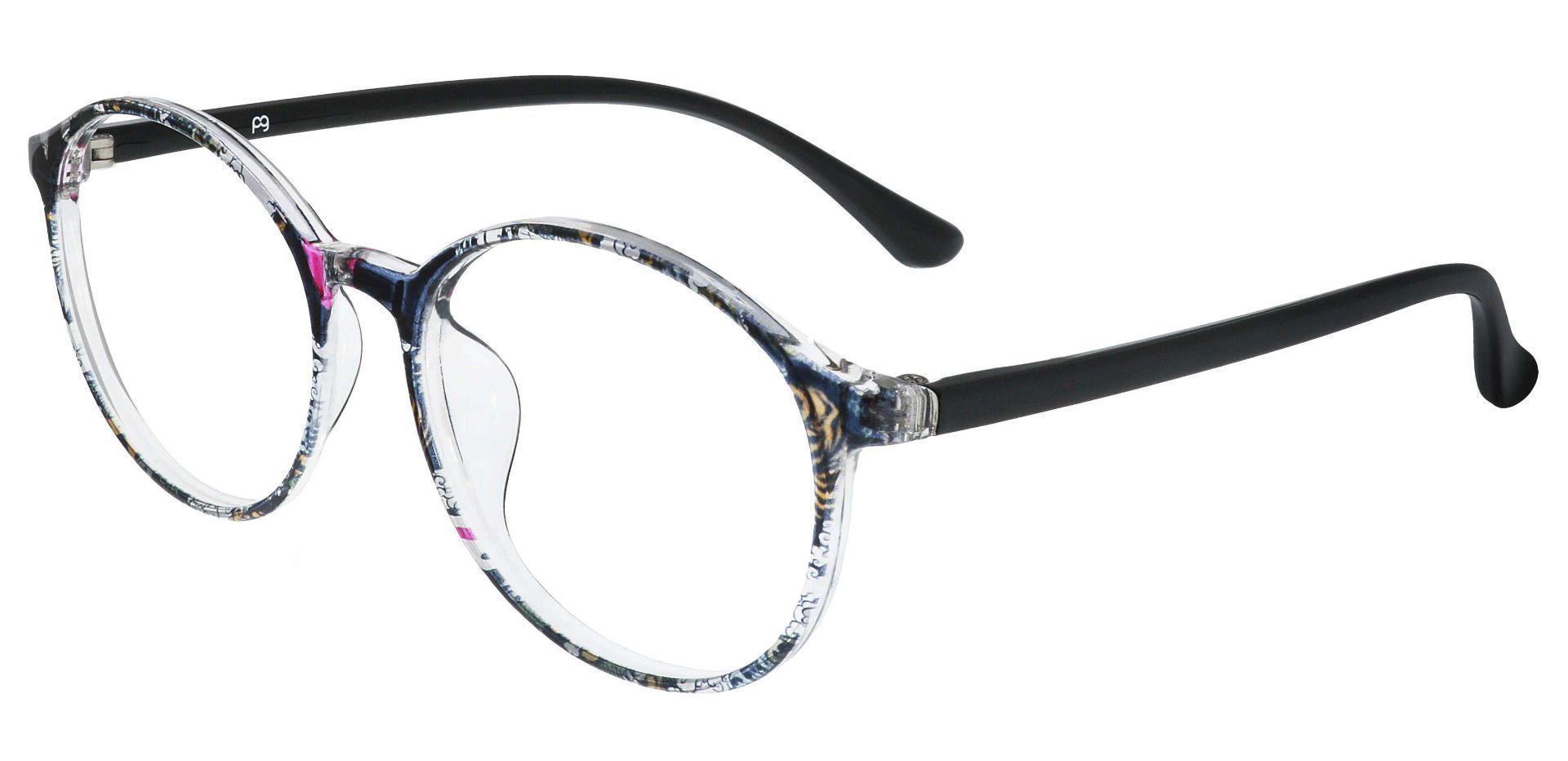 Zemi Round Prescription Glasses - Floral