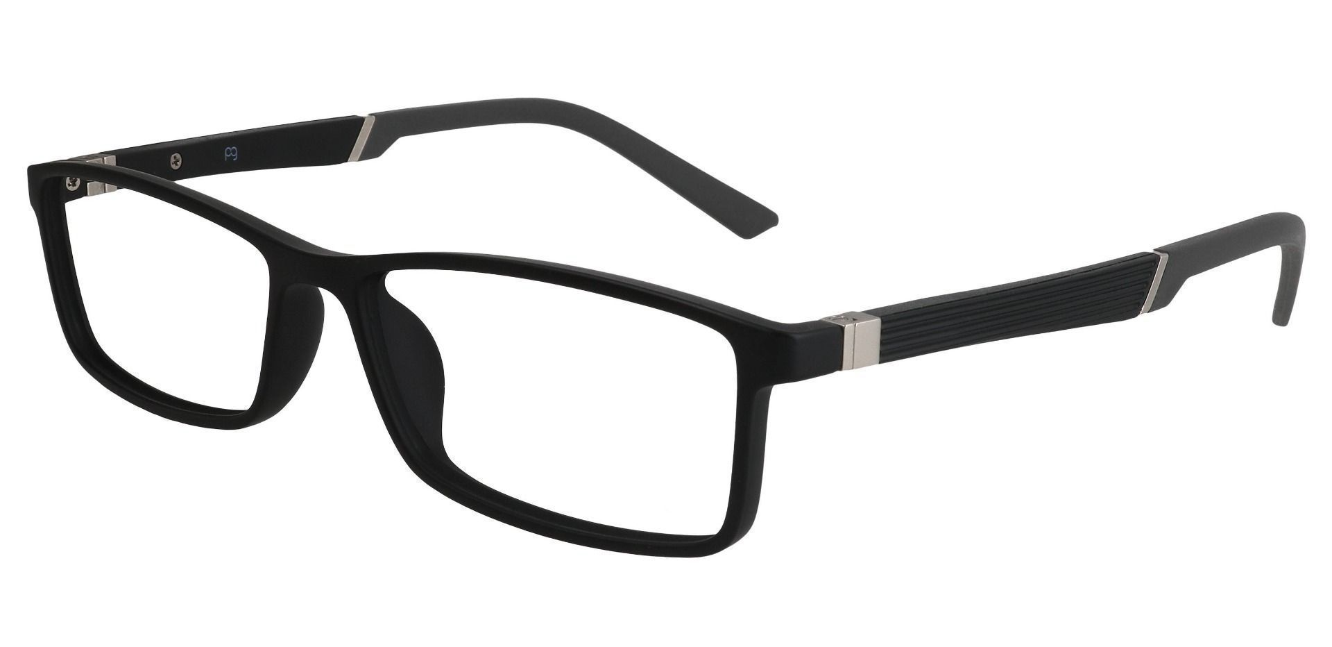 Essex Rectangle Single Vision Glasses - Black