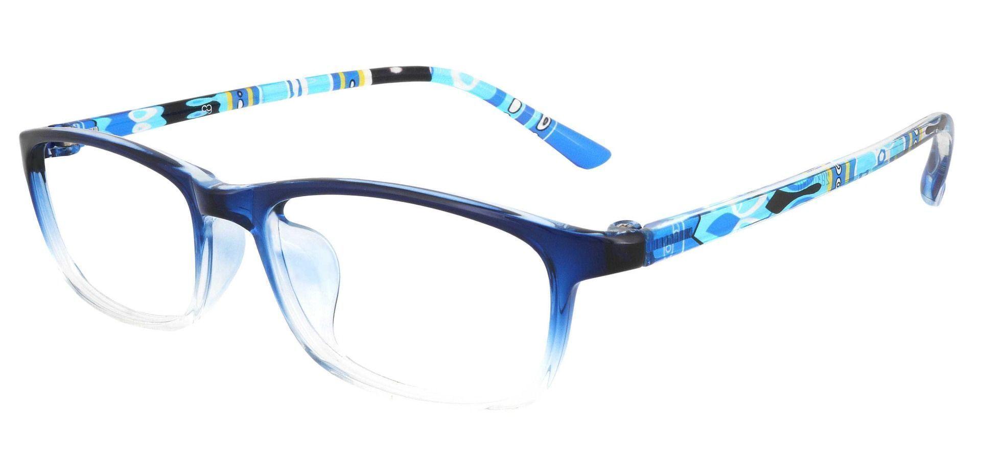 Trinity Rectangle Prescription Glasses - Navy Crystal Fade/Multi Color Temple