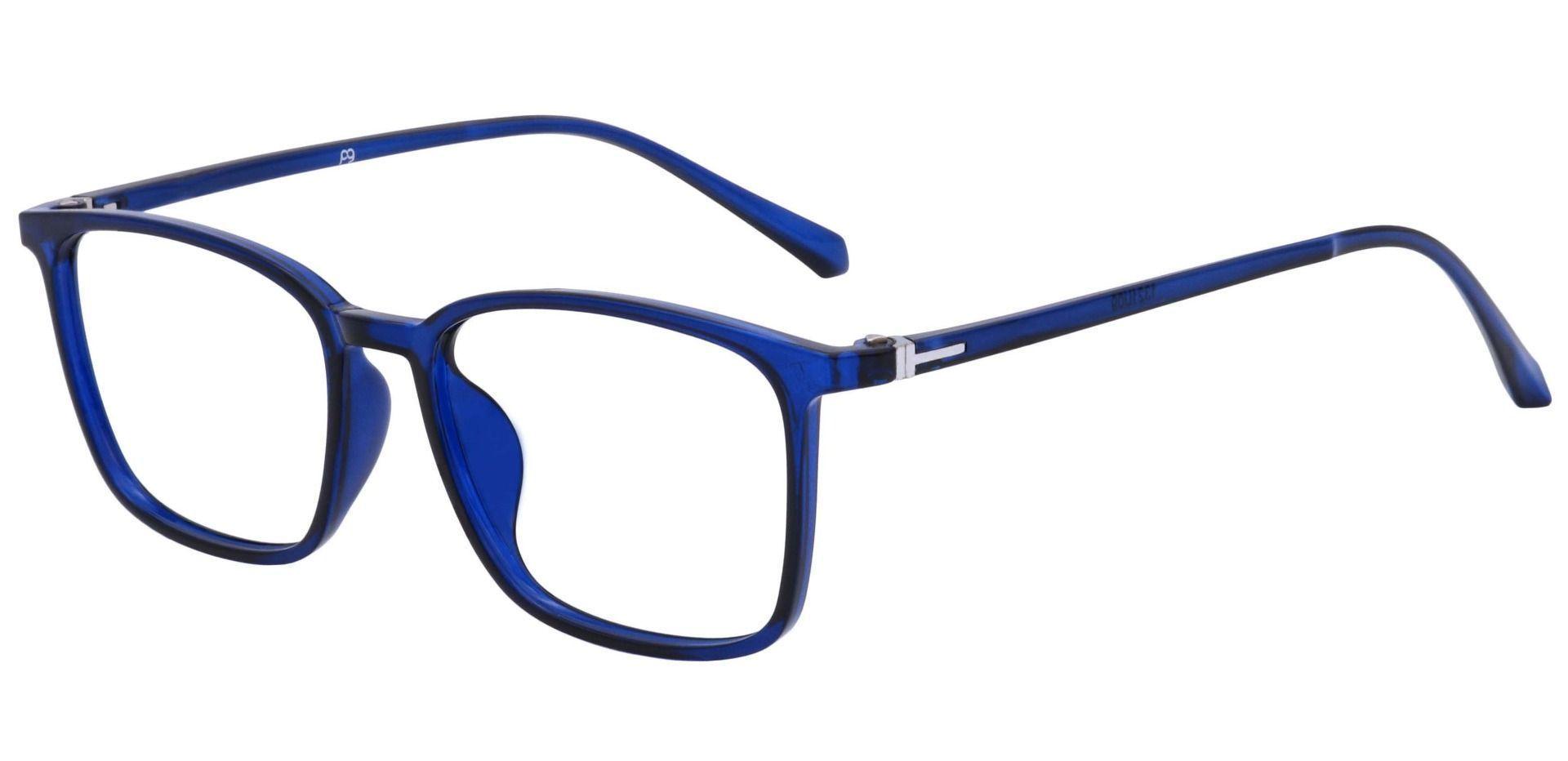 Hayworth Rectangle Blue Light Blocking Glasses - Blue
