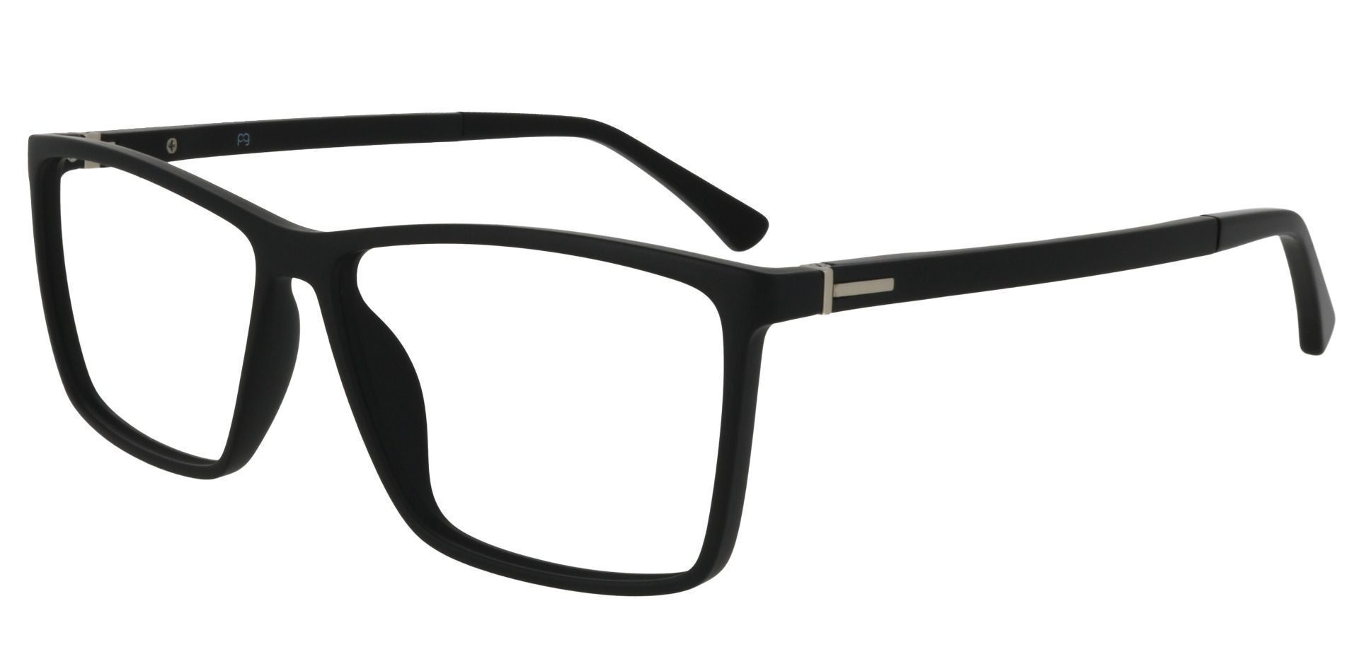 Louie Square Prescription Glasses - Matte Black