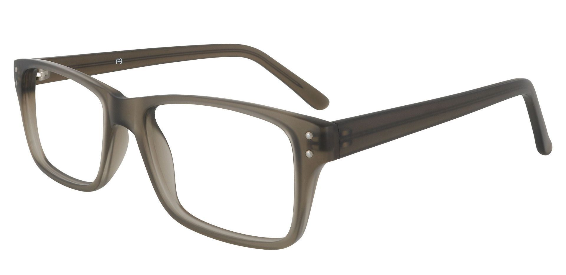 Fabian Rectangle Prescription Glasses - Gray