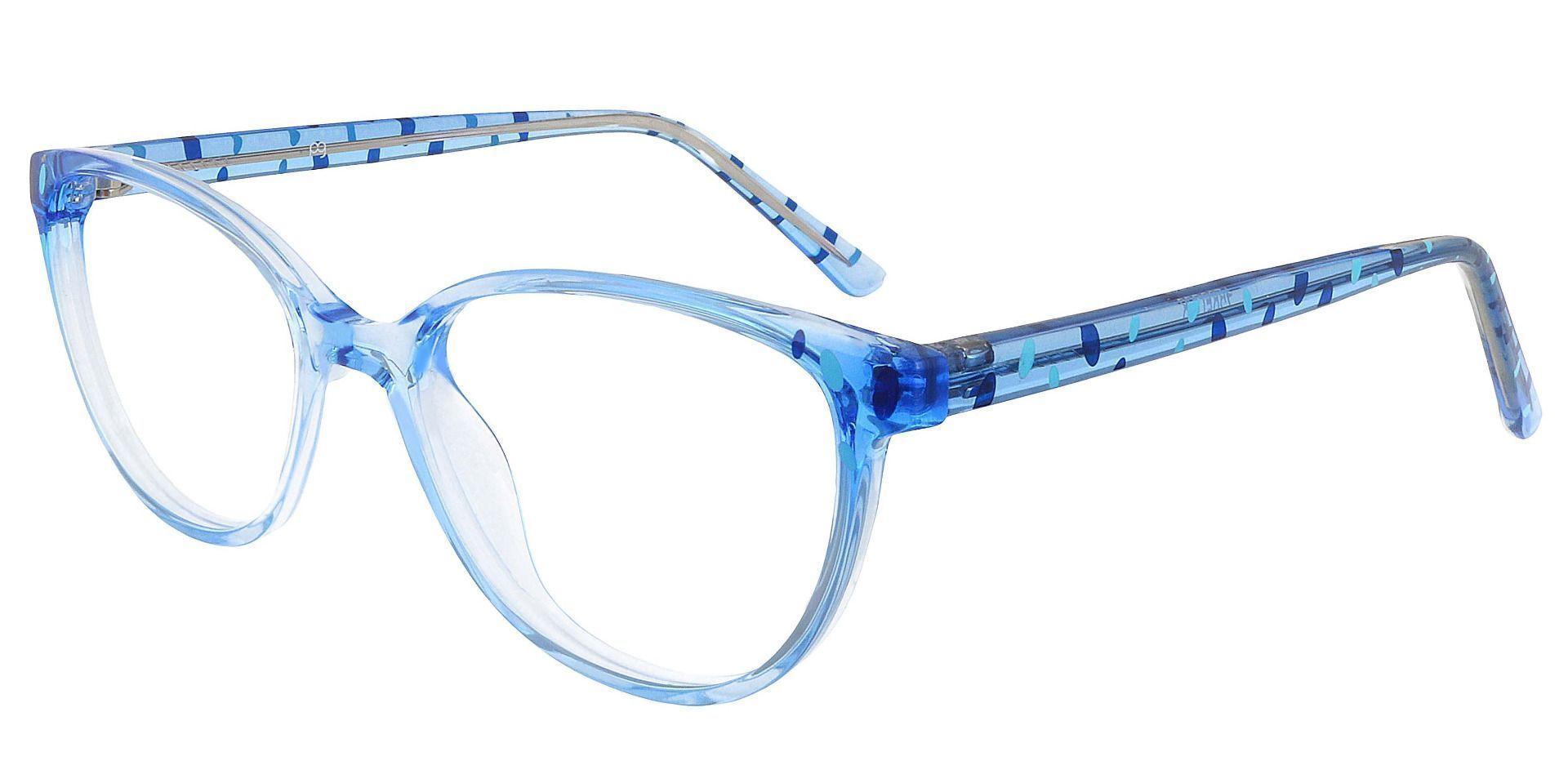 Carma Oval Prescription Glasses - Blue