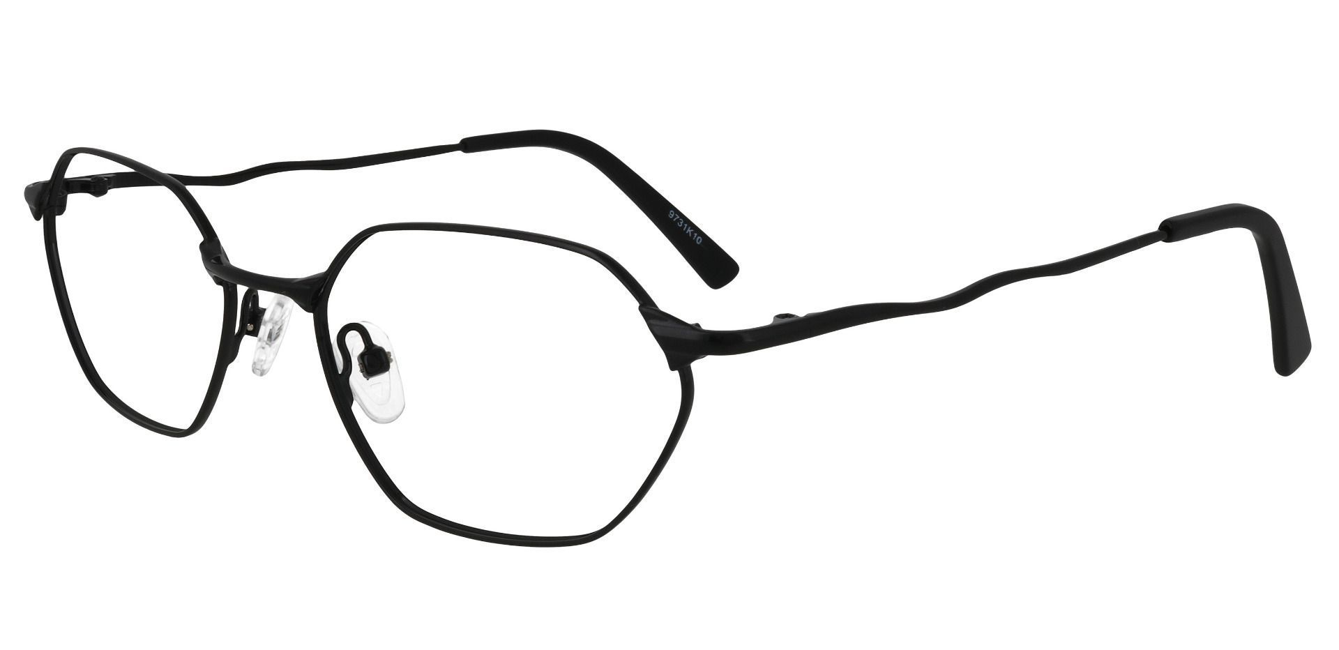 Auburn Geometric Prescription Glasses - Black