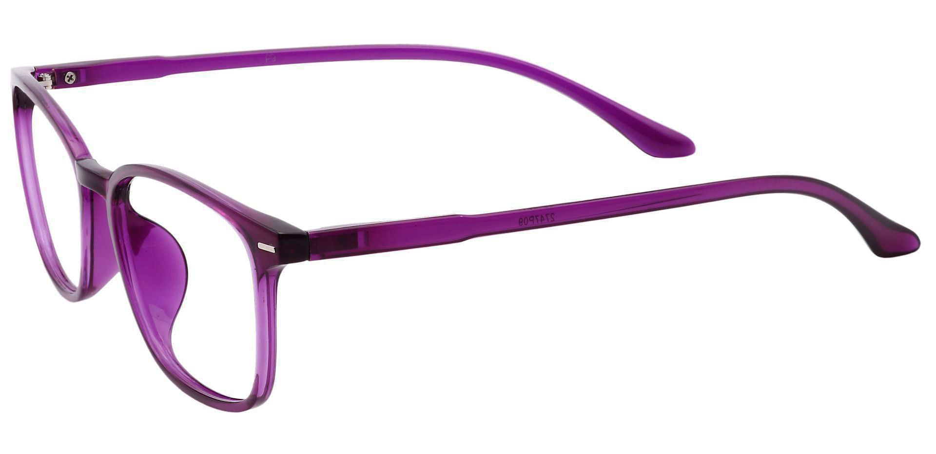 Cabo Oval Lined Bifocal Glasses - Grape