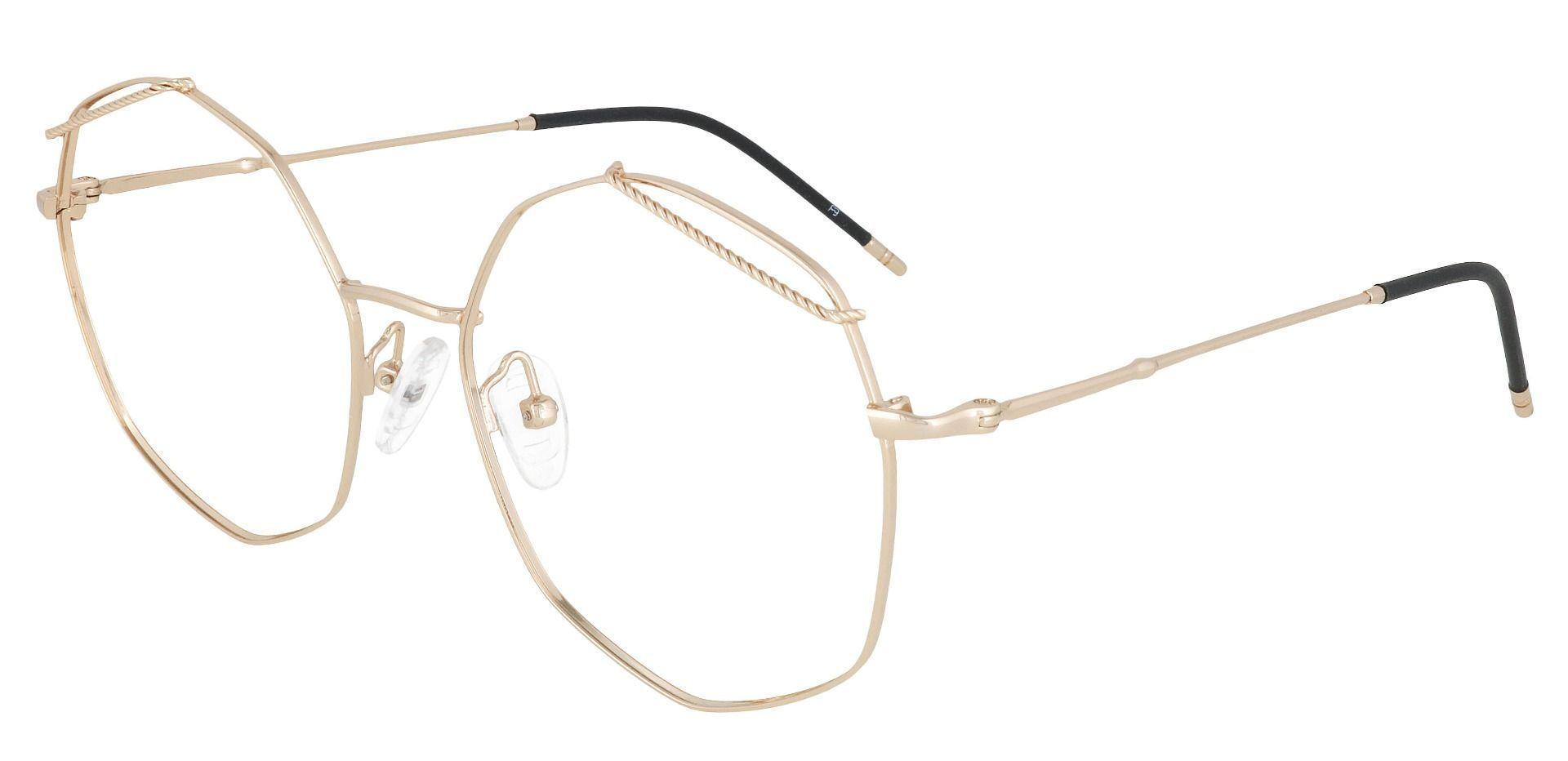Tango Geometric Prescription Glasses - Yellow