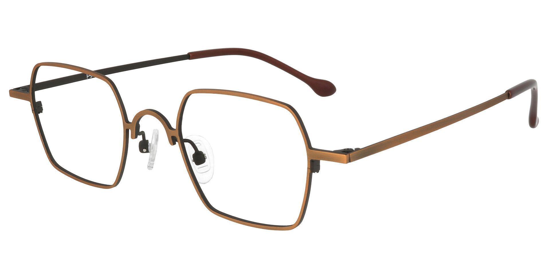 Cortado Geometric Prescription Glasses - Yellow