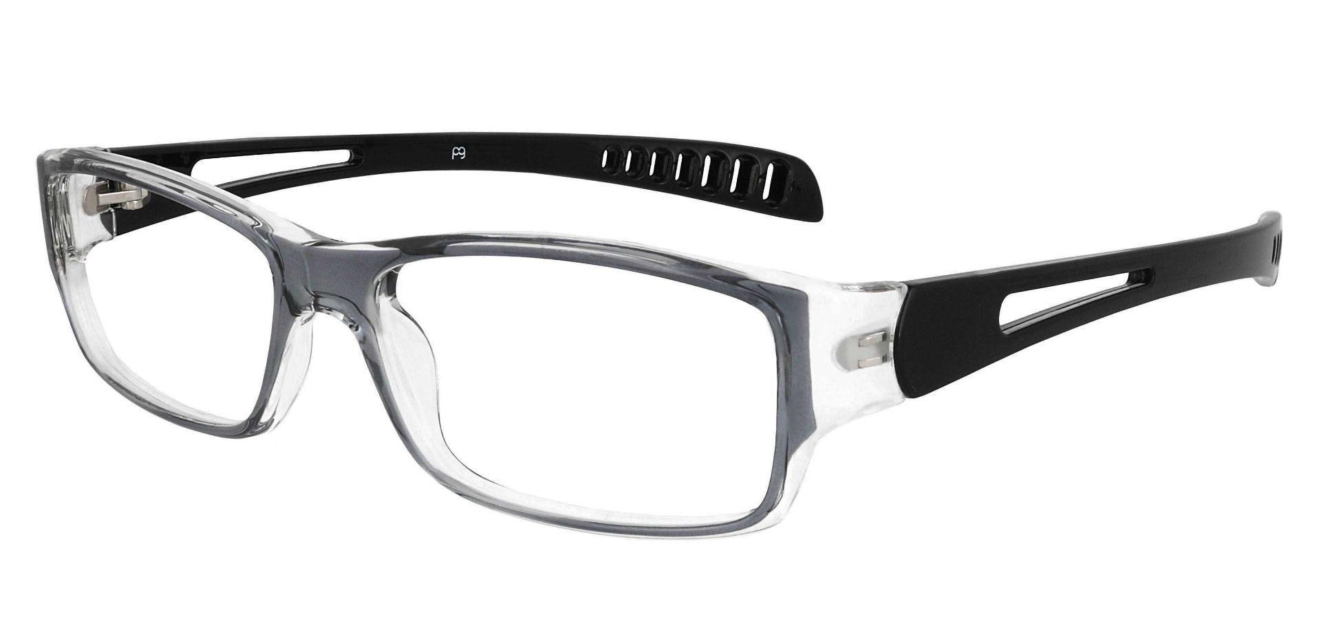 Mercury Rectangle Prescription Glasses - Gray