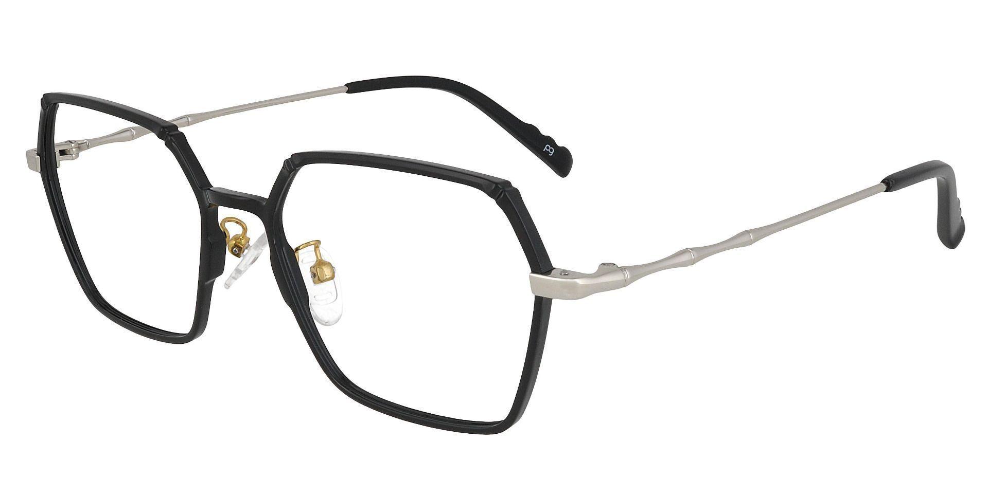 Daro Geometric Prescription Glasses - Black