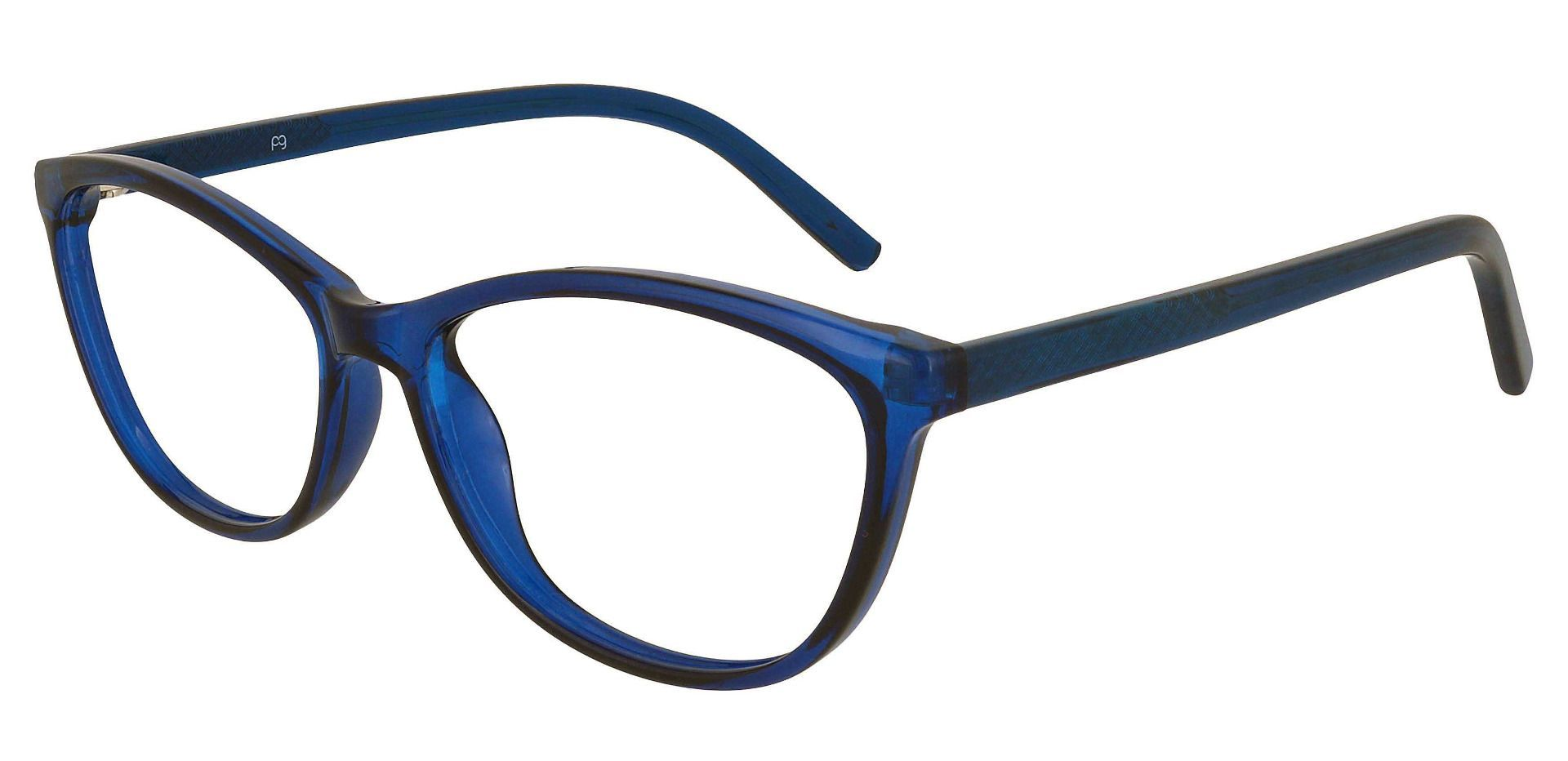 Sally Oval Prescription Glasses - Blue