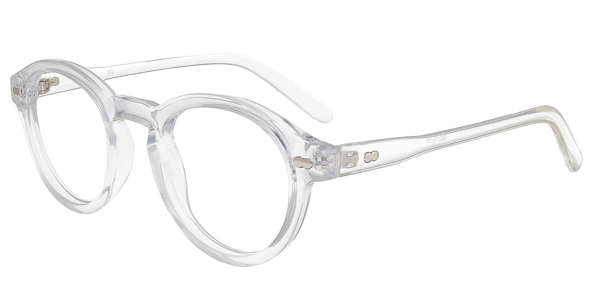 Vee Round Non-Rx Glasses - Clear