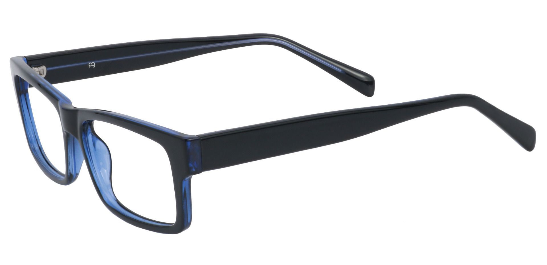 Eclipse Rectangle Prescription Glasses - Blue