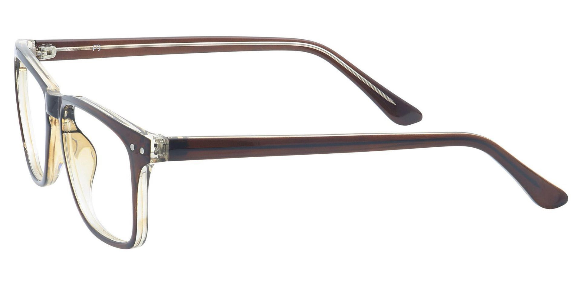 Hope Oval Blue Light Blocking Glasses - Brown