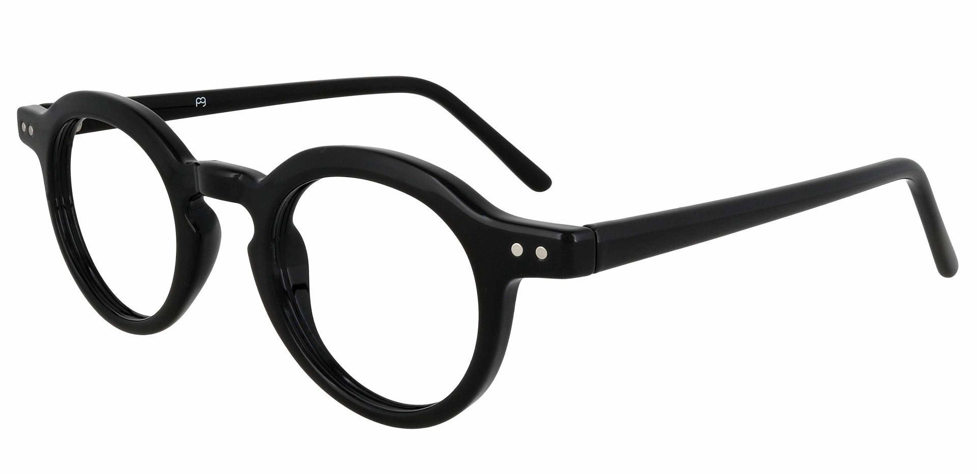 Moonshine Round Prescription Glasses - Black