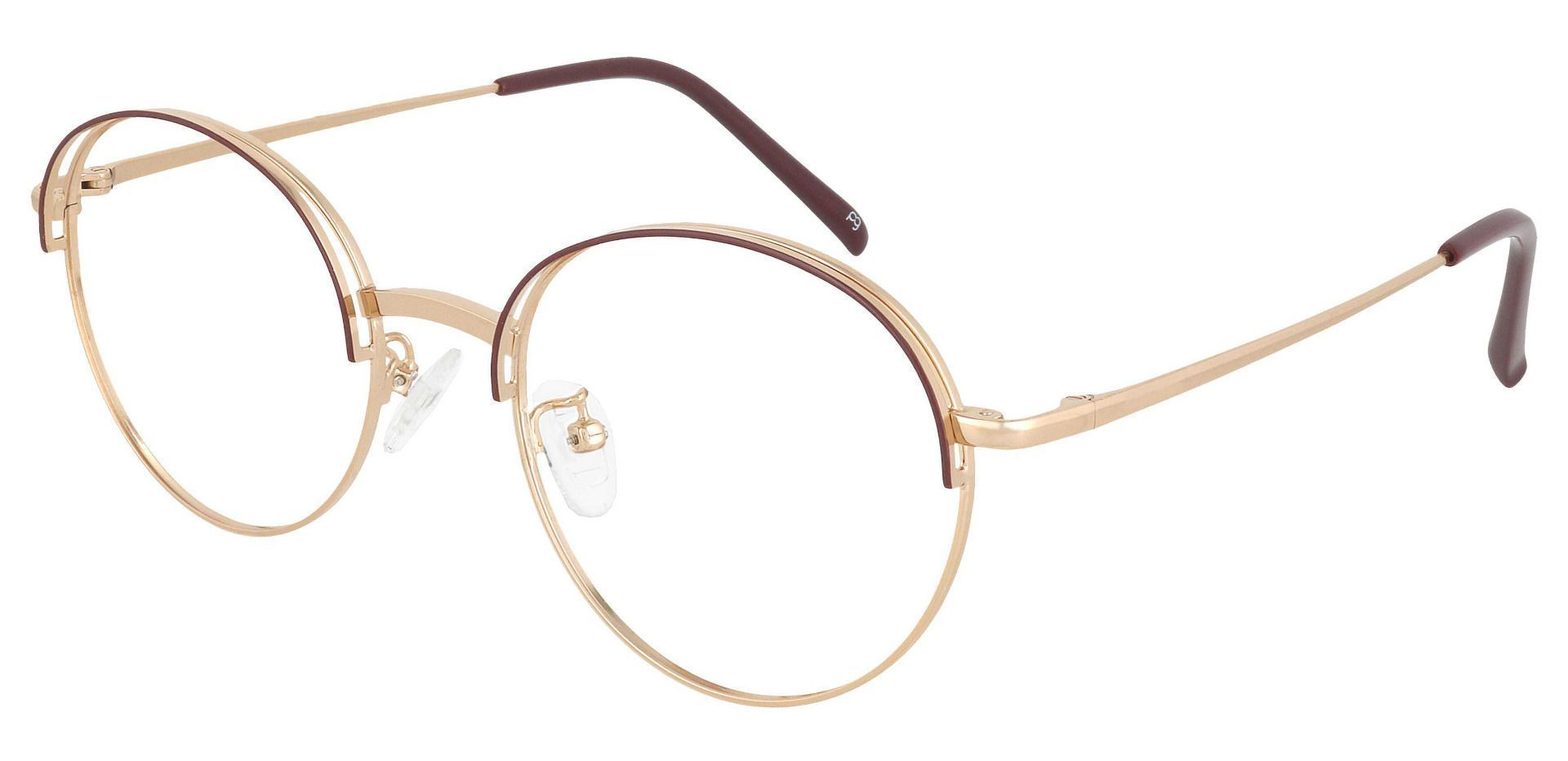 Olenna Round Prescription Glasses - White