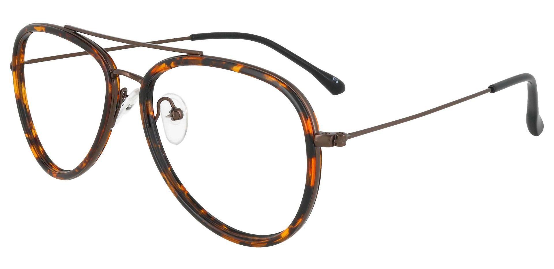 The King Aviator Single Vision Glasses - Tortoise