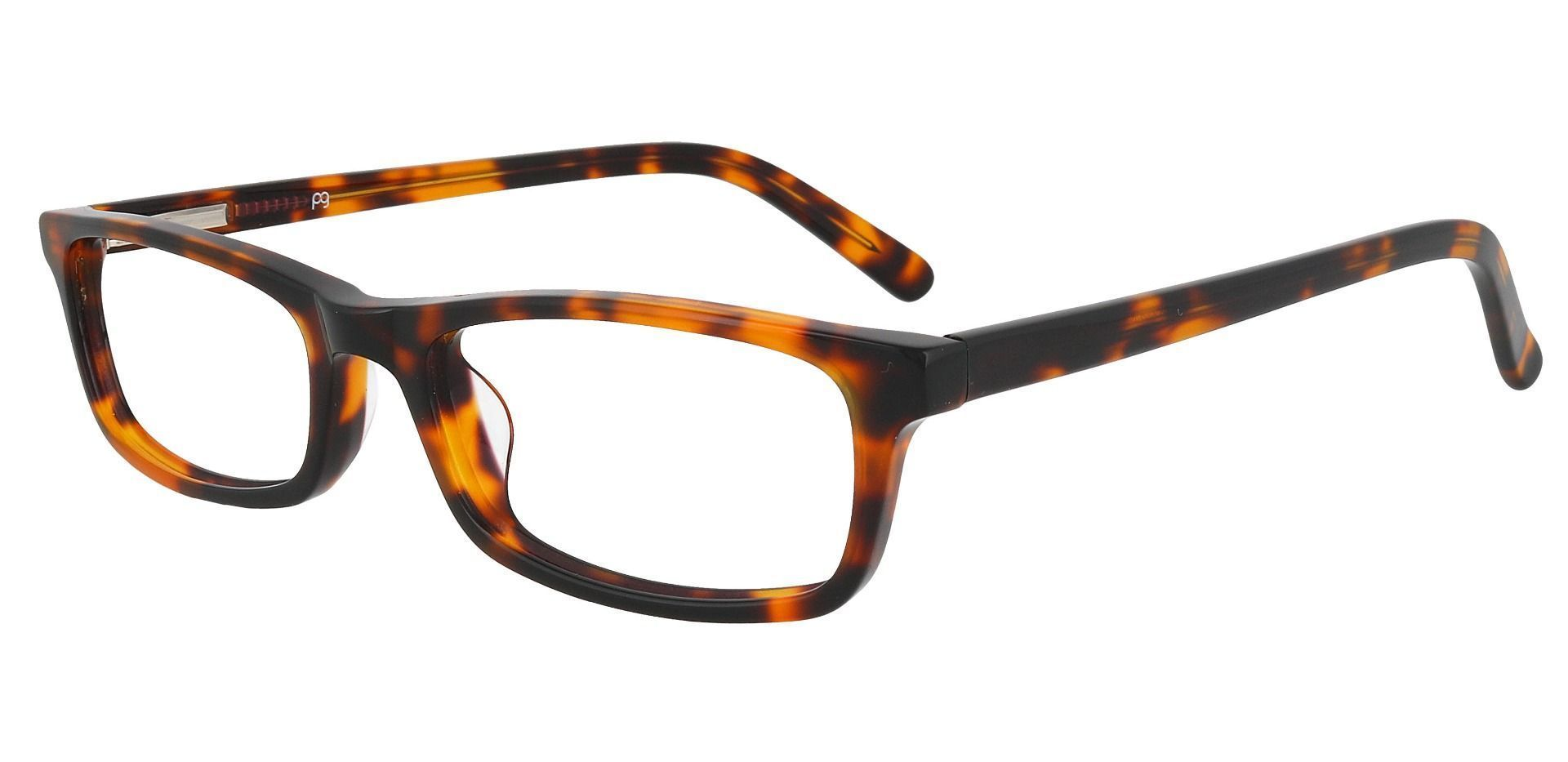 Palisades Rectangle Single Vision Glasses - Tortoise