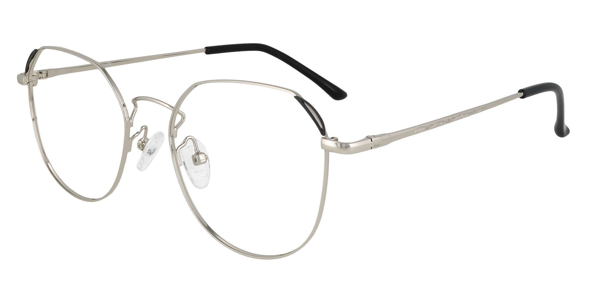 Figaro Geometric Prescription Glasses - White
