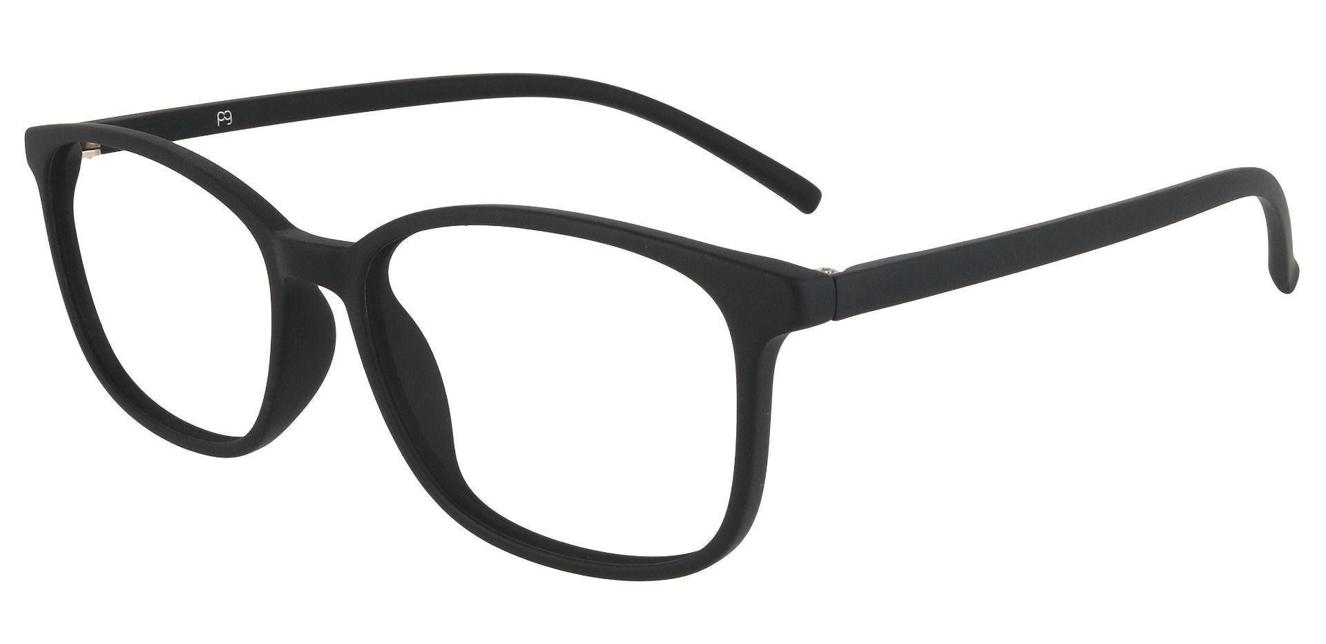 Onyx Square Prescription Glasses - Black