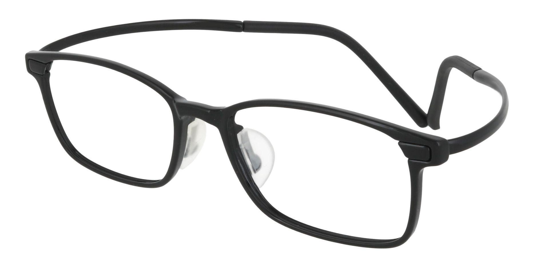 Weaver Rectangle Prescription Glasses - Black