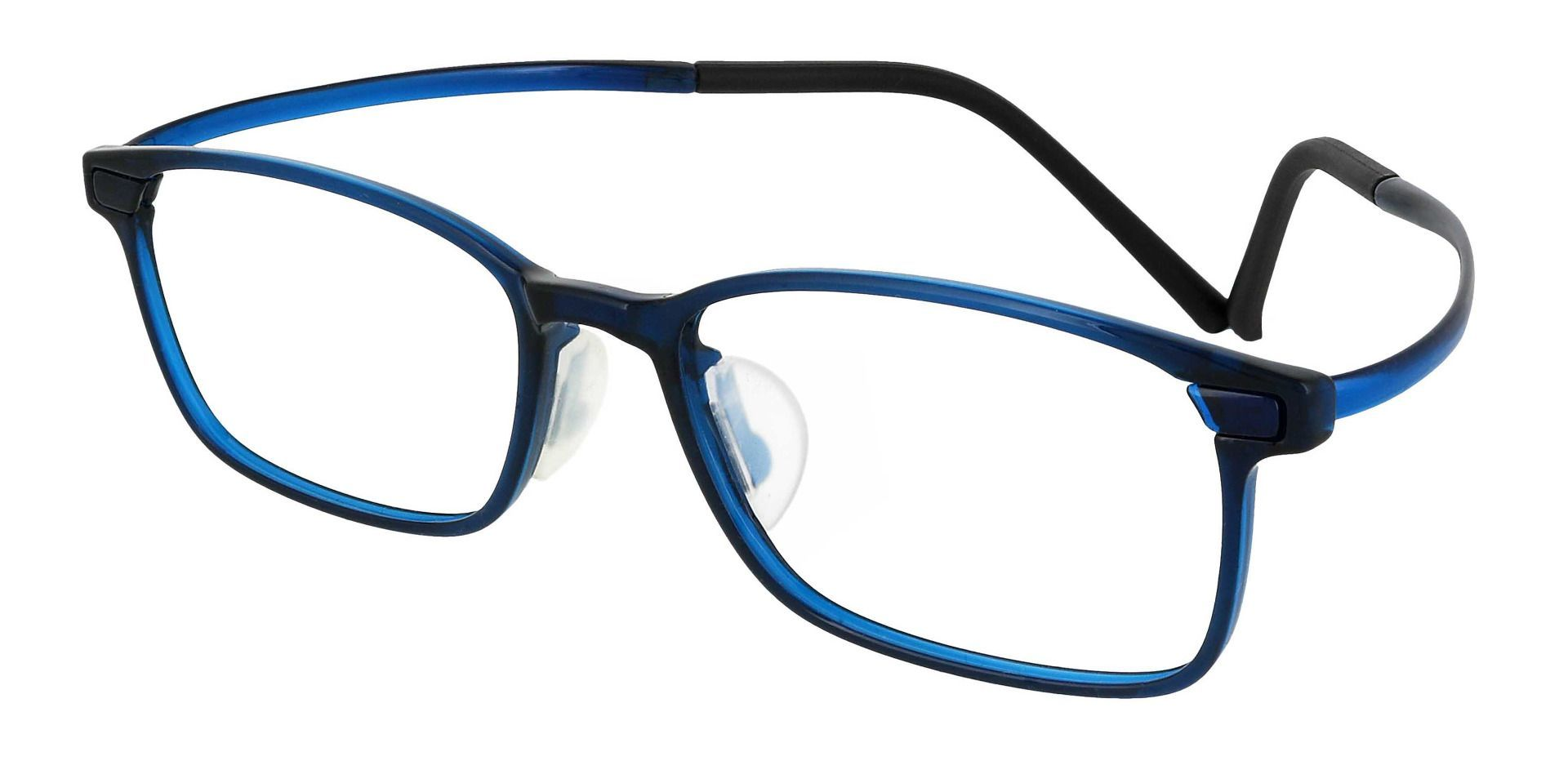 Weaver Rectangle Prescription Glasses - Blue