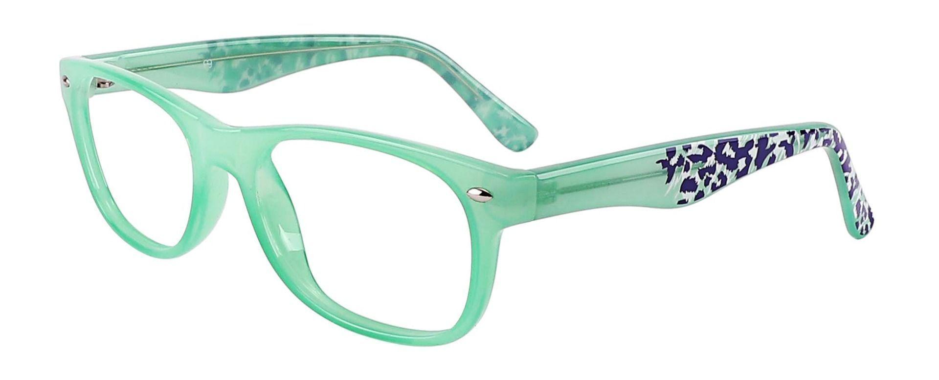 Hyde Rectangle Prescription Glasses - Green