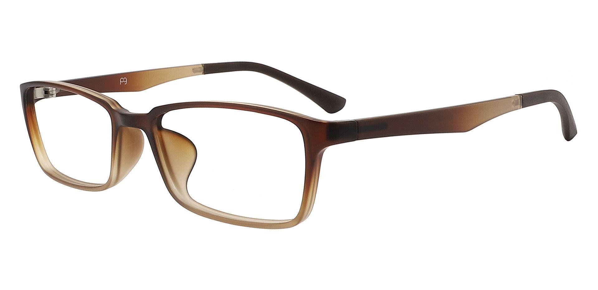 Brooks Rectangle Prescription Glasses - Brown